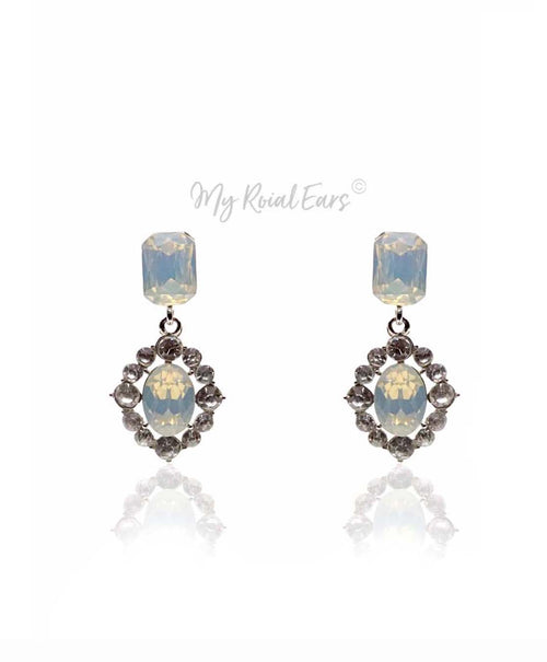 Q.Mia-noble and effortless bridal drop stud earrings - My Roial Ears LTD