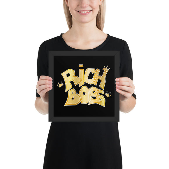 Rich Boss (Black) - Framed photo paper poster