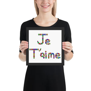 Je T'aime - Framed photo paper poster