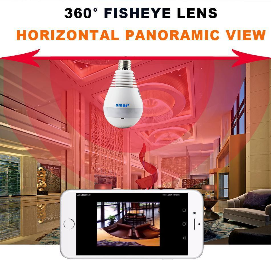Wireless 360 Degree Panoramic Fish Eye Camera