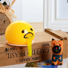 Cute Yellow Round Sucking & Vomiting Lazy Egg Yolk Vent Stress Relief Toy