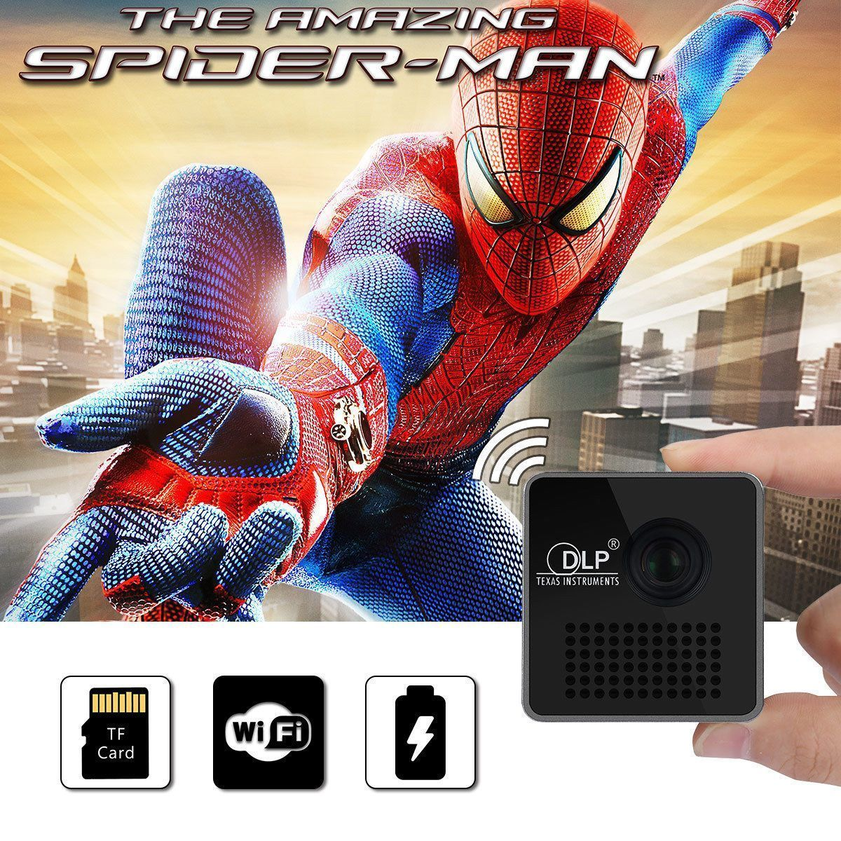 Mini DLP Wireless WIFI Projector