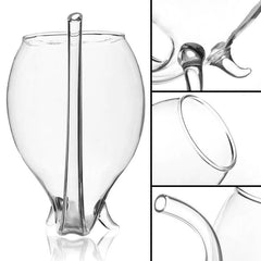 2Pcs Wine Glass Built-in Straw