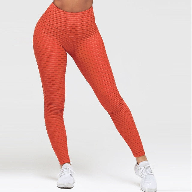 Elasticity Slim Push Up Female multiple color Leggings