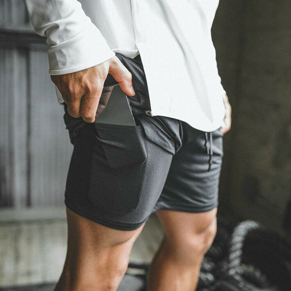 2 in 1 Fitness Running Shorts