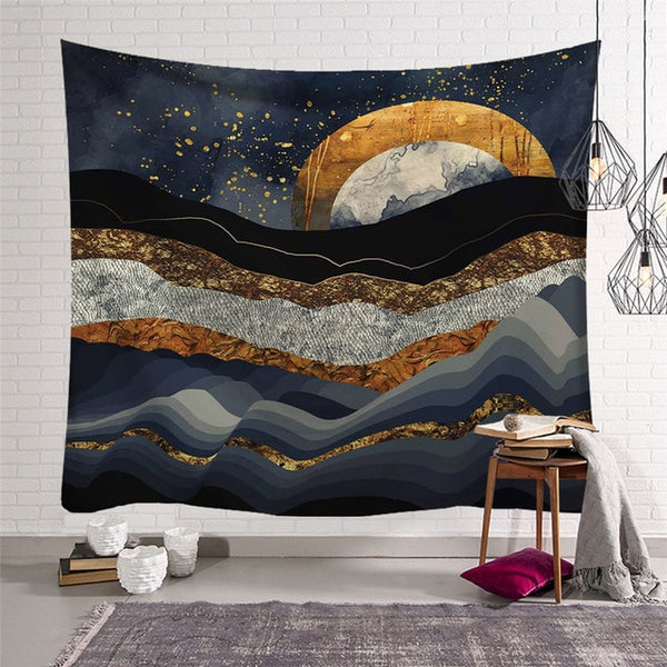 Sun Moon Tapestry Wall Hanging Witchcraft Decor