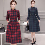 Long Sleeve Cotton Midi Dresses