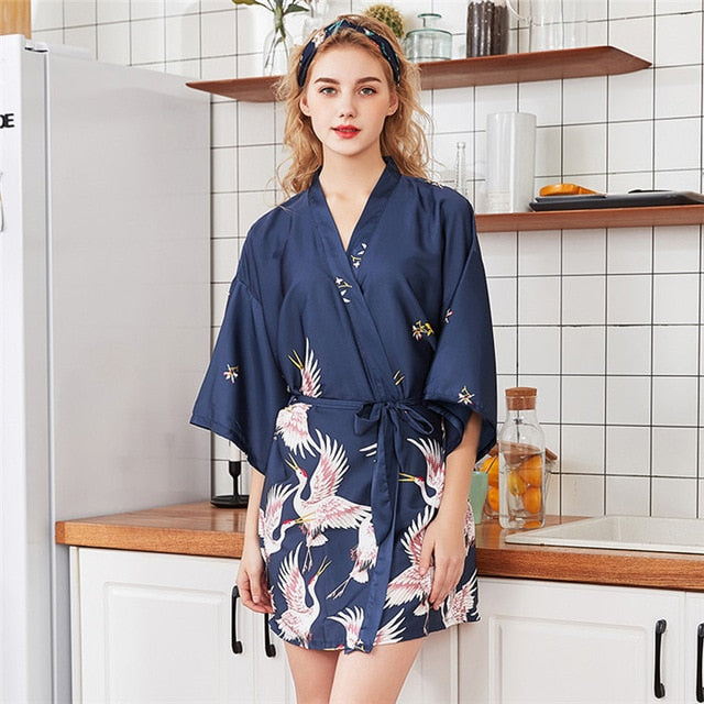 Sexy Flower Long Sleepwear & Bathrobe
