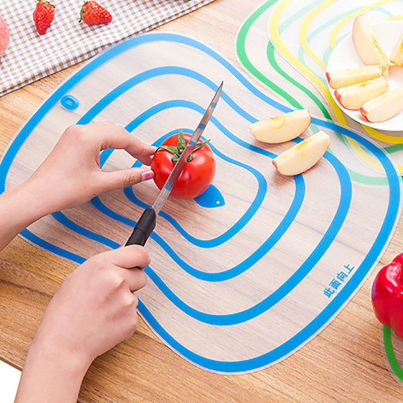 Plastic Chopping Frosted Cutting Board Kitchen