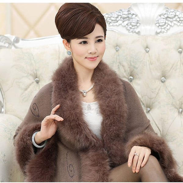Women Faux Fur Winter Coat