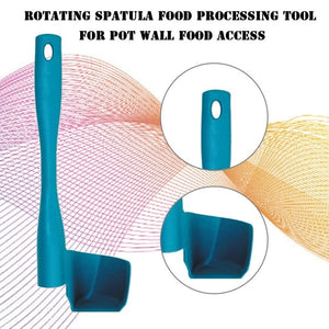 Rotating Spatula For Scooping &Portioning Food Processor Kitchen Accessories