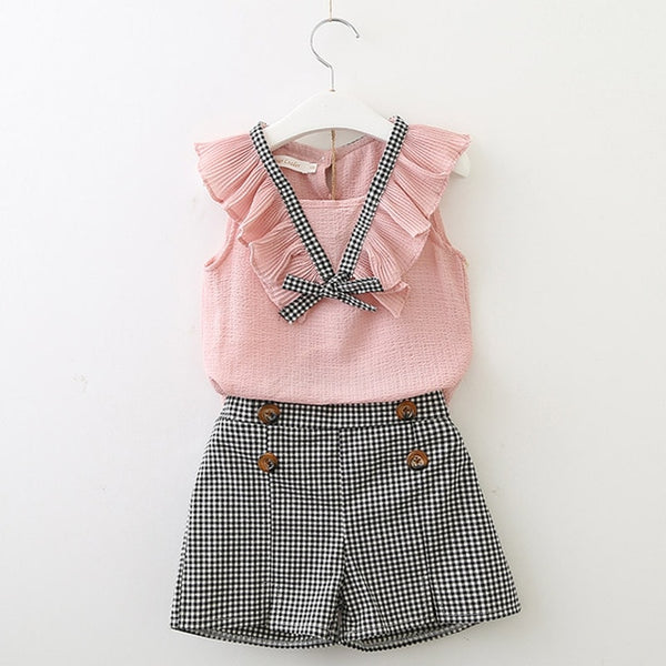 Two piece Sleeveless Girls Kids Sets