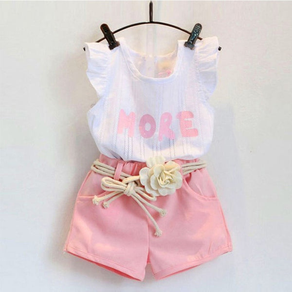 Kids Sleeveless Clothing Sets Baby Girl suit