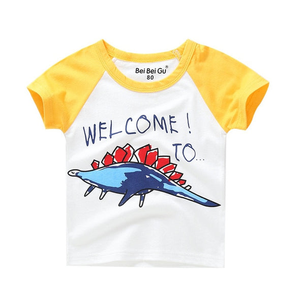 Cartoon print t shirt for unisex kids 5-14 Yrs