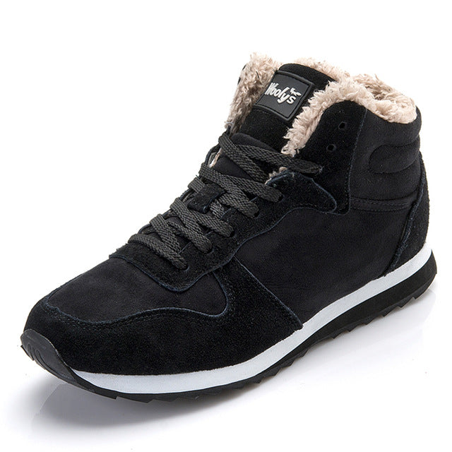Men Plush Winter Sneakers