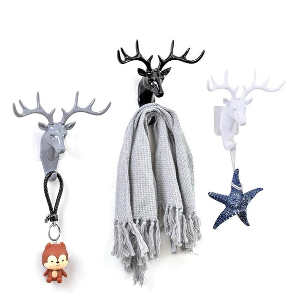 European Plastic Deer Statue Crafts Shelf Rack Stand