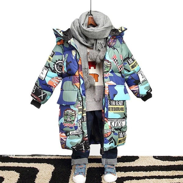 Winter Jackets Camouflage Parkas For Teenagers Boys
