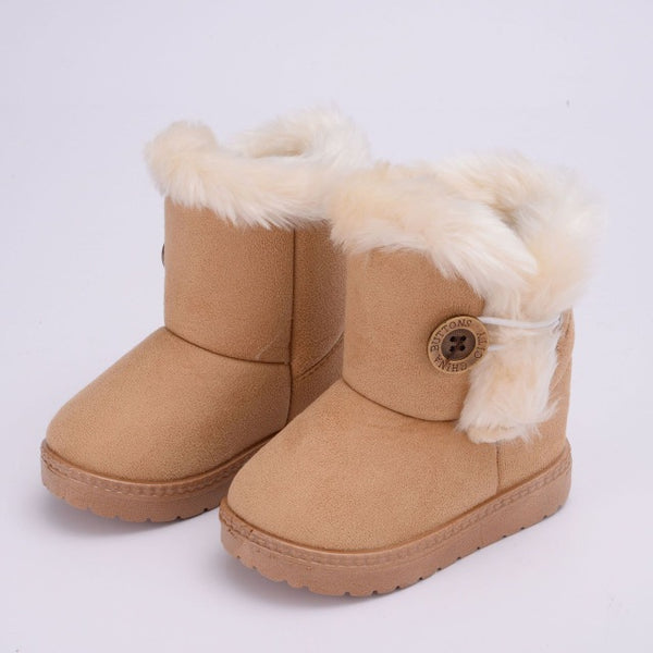 Classic Turned-over Baby Plush Children Boots
