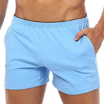 Boxer Men Underwear Cotton Pouch  Colors Panties For Swim