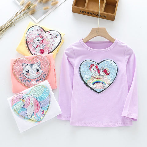 Cartoon Unicorn Girl Shirts