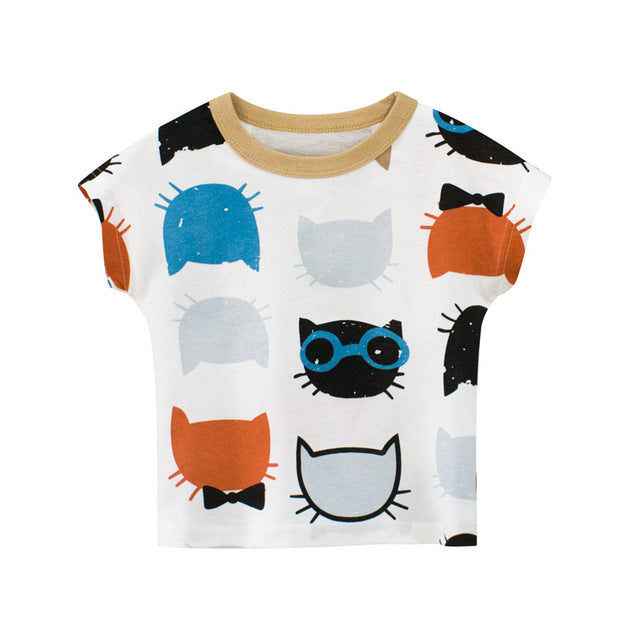 Short Sleeve T shirt Outfit For Toddler Boys & Girls