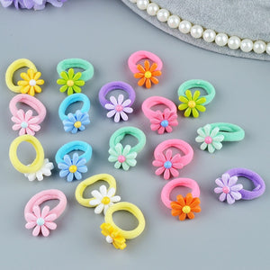 Lovely Flower Elastic Hair Bands For Kid Girls