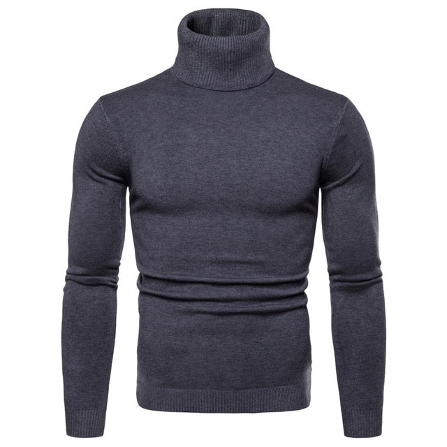 Winter Warm Turtleneck Sweater For Men