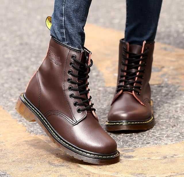 Unisex BIG SIZE leather boots