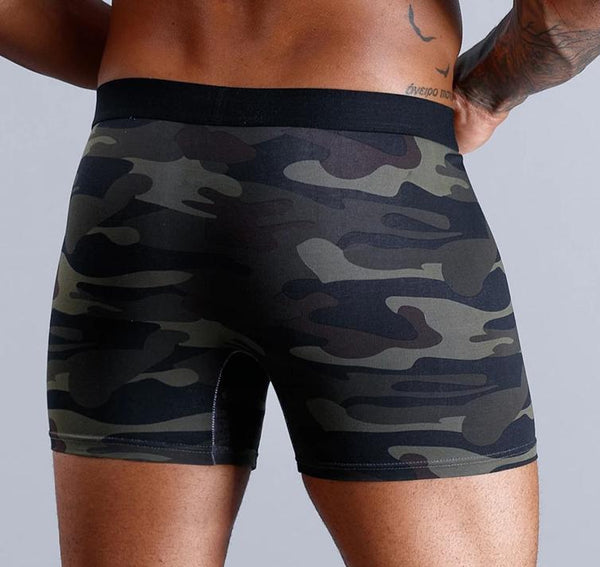 Men Boxers Long Natural Cotton Underwear