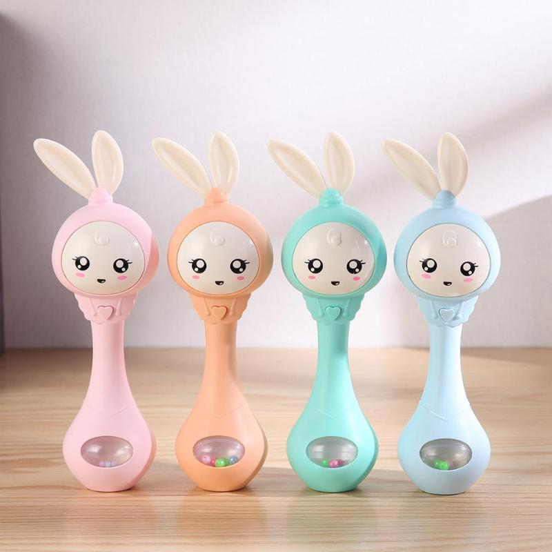 Musical Flashing Baby Rattles Infant Hand Bells