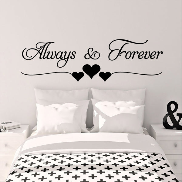 Romantic Love Always Forever Wall Sticker For Living Room