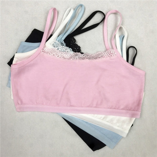 Girl Underwear Cotton Lace Bras
