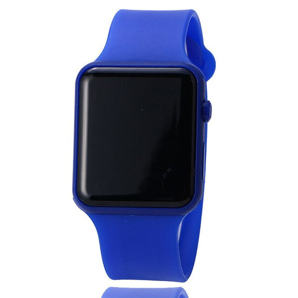 Silicone LED Digital Colorful Watch For Boy Girl