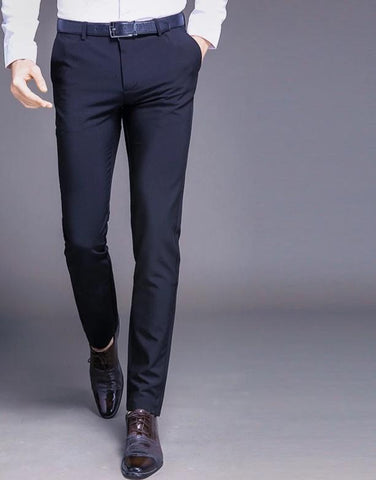 Men Pants Straight Long Male Casual Trousers