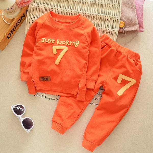 Long Sleeve Tracksuit Baby T-Shirt pants