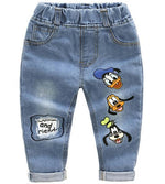 Cartoon Print Denim Pants