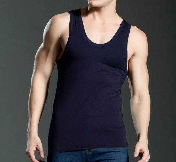 Elastic Casual O-neck Breathable Undershirts Male