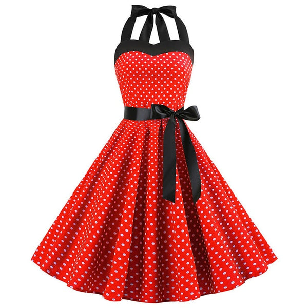 Sexy Retro Polka Dot Elegant Midi Dress
