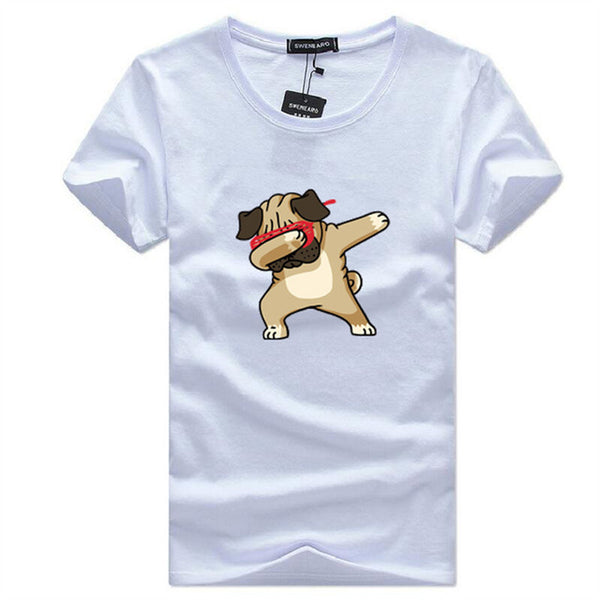 Animal Dog Print Hipster t shirt Men