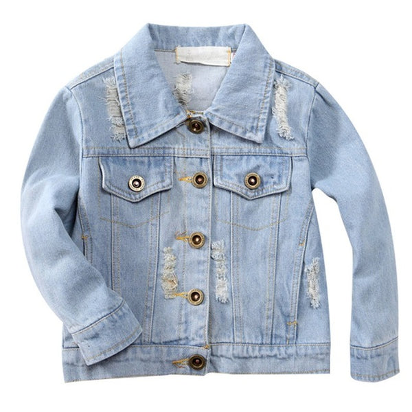 Flower embroidery Girl denim jacket