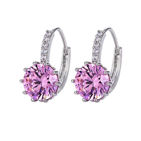 Zircon Element Stud Earrings