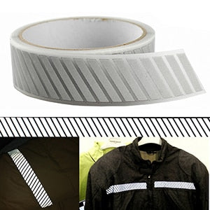 Silver Reflective Iron on Fabric Clothing Tape