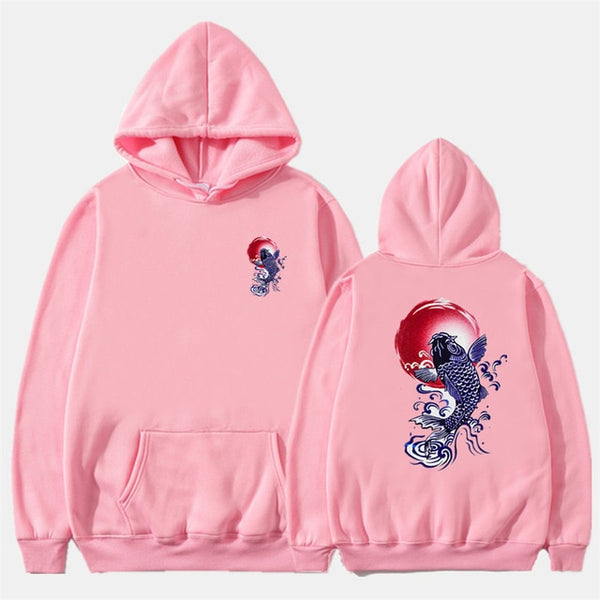 Printed Fleece Hoodies Japan Style