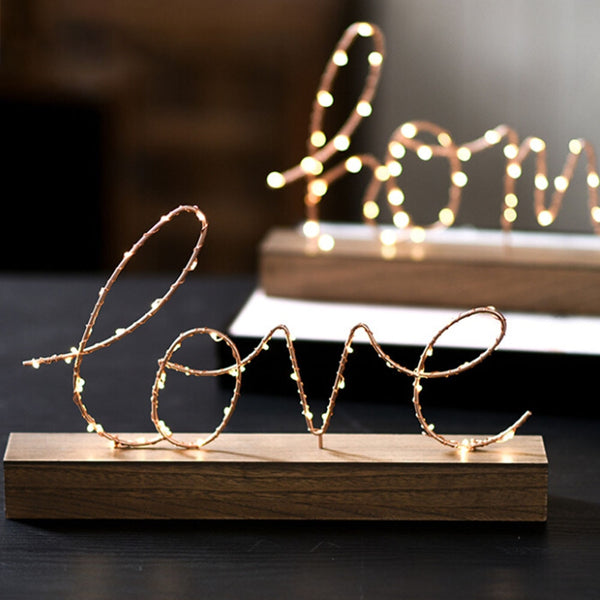 LED Lamp Light LOVE Letters For Living Room