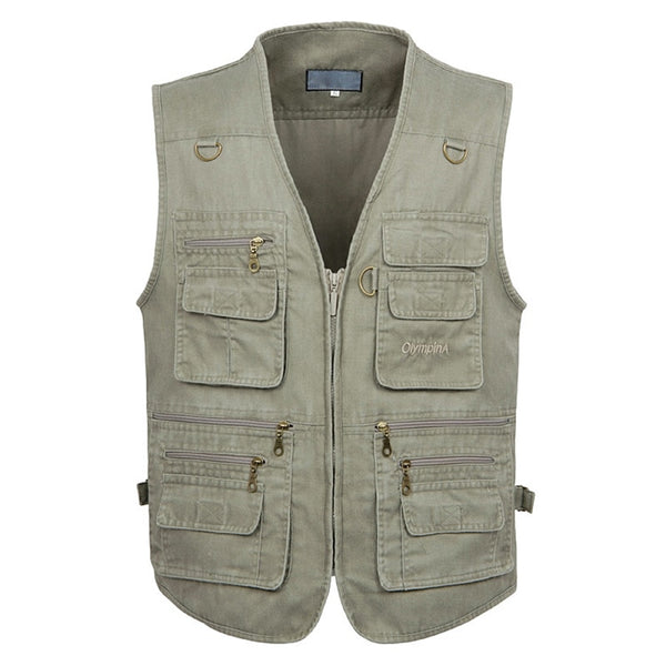 Men's Cotton Sleeveless Vest With Pockets