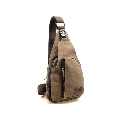 Men canvas good quality chest bag