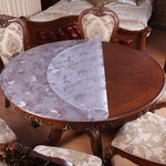 PVC Waterproof Transparent Table Cover Round tablecloth
