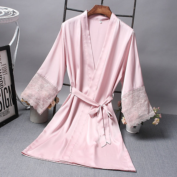 Silk Bath Robe Sleepwear