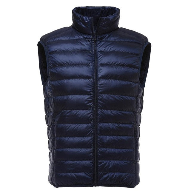 Duck Down Shaped Men Sleeveless Jacket