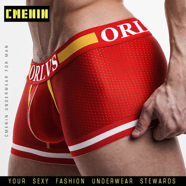 Cueca boxer Men Mesh Shorts plus size